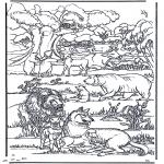 Dibujos de la Biblia - La nueva tierra 1