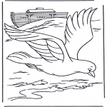 Dibujos de la Biblia - La paloma del Arca de Noé