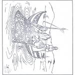 Dibujos de la Biblia - La pesca milagrosa 1