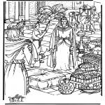 Dibujos de la Biblia - La reina de Saba