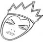 La reina enfadada