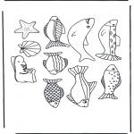 Animales - Lámina de peces