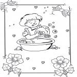 Dibujos Infantiles - Lavar los platos