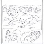 Animales - Lobo en la nieve