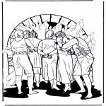 Dibujos de la Biblia - Los amigos de Daniel