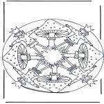 Mandalas - Mandala con seta