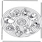 Mandalas - Mandala de animales 2