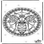 Mandalas - Mandala de avispas