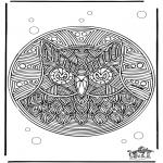 Mandalas - Mandala de búho