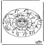 Mandalas - Mandala de cavalos 1