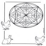 Mandalas - Mandala de Corazones 1