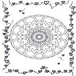 Mandalas - Mandala de Corazones 3