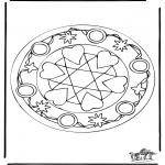 Mandalas - Mandala de Corazones 5