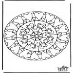 Mandalas - Mandala de Corazones 6