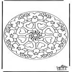 Mandalas - Mandala de Corazones 7