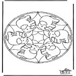 Mandalas - Mandala de elefante
