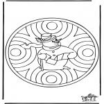 Invierno - Mandala de invierno 1