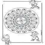 Mandalas - Mandala de Lápices