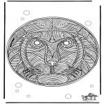 Mandalas - Mandala de León