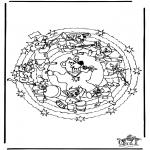 Mandalas - Mandala de oso
