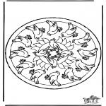 Mandalas - Mandala de pájaros