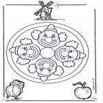 Mandalas - Mandala de Payaso