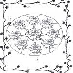 Mandalas - Mandala de Rosas 2