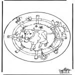 Mandalas - Mandala de vaca