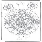 Mandalas - Mandala Geométrica de Flores