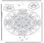 Mandala Geométrica de Flores