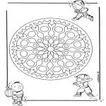 Mandalas - Mandala Geométrico Infantil 1