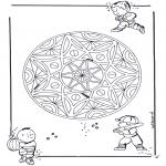 Mandalas - Mandala Geométrico Infantil 3