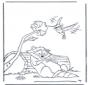 Mapache y colibrí