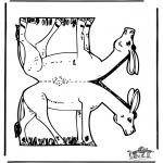 Manualidades - Maqueta de burro