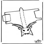 Manualidades - Maqueta de jirafa