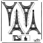 Manualidades - Maqueta de la torre Eiffel