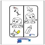 Manualidades - Marcapáginas - bebé