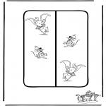 Manualidades - Marcapáginas de Dumbo