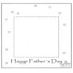 Manualidades - Marco de fotos para papá