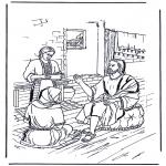 Dibujos de la Biblia - María y Marta 1