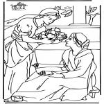 Dibujos de la Biblia - María y Marta 2