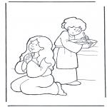 Dibujos de la Biblia - Marta y María