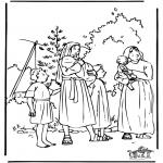 Dibujos de la Biblia - Moisés 1