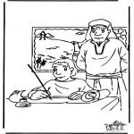 Dibujos de la Biblia - Moisés 3