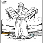 Dibujos de la Biblia - Moisés 4
