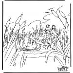 Dibujos de la Biblia - Moisés en la cesta