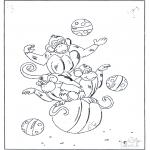 Animales - Monos sobre la pelota