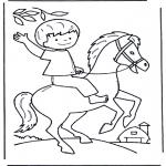 Dibujos Infantiles - Muchacho a caballo