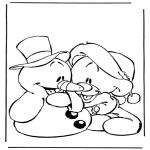Personajes - Muñeco de nieve con osito
