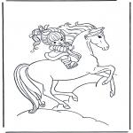 Animales - Niña a caballo 1
